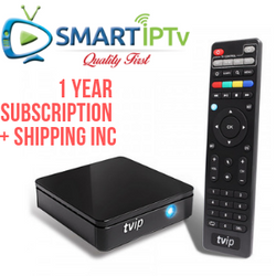TVIP V415 + 1 year smartiptv shipping include