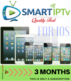 SMARTIPTV  For IOS iPhone and IPAD  (3 Months Subscription)