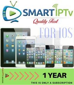 SMARTIPTV  For IOS iPhone and IPAD  (1 year Subscription)