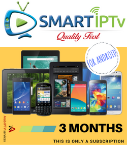 SMARTIPTV  For Android Phone  and Tablet  (3 Months Subscription)