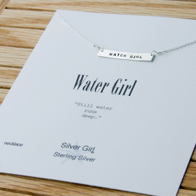 "Boating Necklace - ""WaterGirl"" Rectangle Nautical"