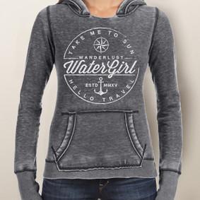 Women's Hoodie - WaterGirl Wanderlust Burnout
