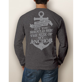 Men's Boating Long-Sleeve - NautiGuy Big Anchor