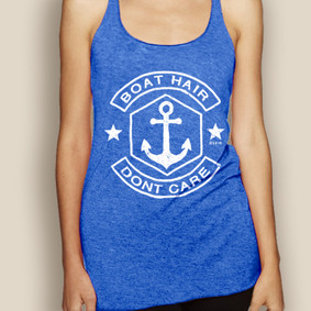 Boating Tank Top - WaterGirl Boat Hair Lightweight Racerback