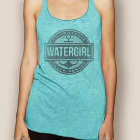 Boating Tank Top - WaterGirl Summer Lightweight Racerback