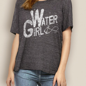 Women's Boating Relaxed Tee - WaterGirl Infinity