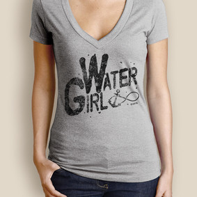 Women's Boating T-Shirt - WaterGirl Infinity Deep V