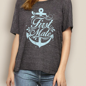 Women's Boating Relaxed Tee- WaterGirl First Mate
