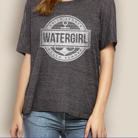 Women's Boating Relaxed Tee- WaterGirl Summer