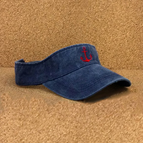 Distressed Red Anchor Visor