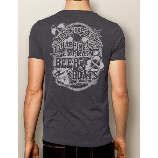 f5159eead Men's Boating T-Shirt- NautiGuy Beer & Boats. Price: $24.99. Image 1