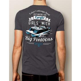 Men's Boating T-Shirt- NautiGuy Big Pontoons