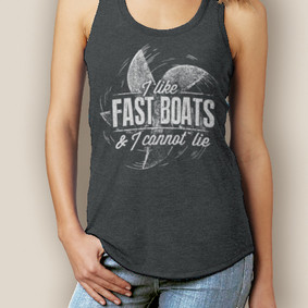 Boating Tank Top- WaterGirl Fast Boats Signature Tri-Blend Racerback