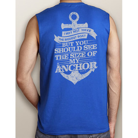 Men's Boating Sleeveless T-Shirt- NautiGuy Big Anchor