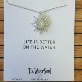 Boating Necklace- Sparkling Horizon Sun