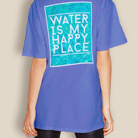 Water is my Happy Place Comfort Colors Short Sleeve Shirt