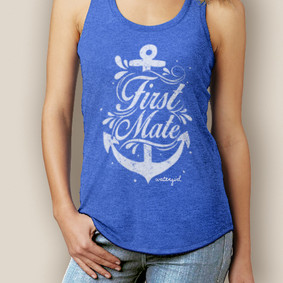 First Mate Signature Tri-Blend Racerback ( More Color Choices)
