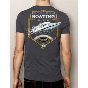 Men's Boating T-Shirt- NautiGuy Topless Boating