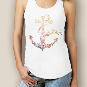 Watergirl Tribal Anchor Signature Tri-Blend Racerback