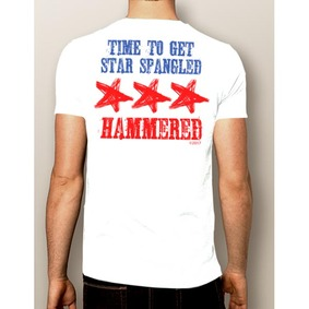 Men's Boating T-Shirt- 4th Of July Star Spangled Hammered Shirt