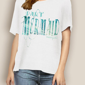 WaterGirl Boating Relaxed Tee-Part Mermaid