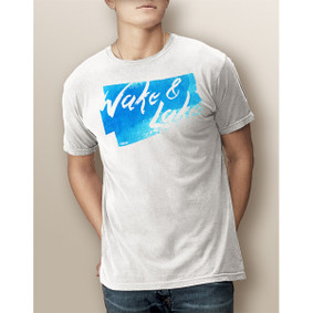 Guy's Wake & Lake Watercolor-Comfort Colors Tee