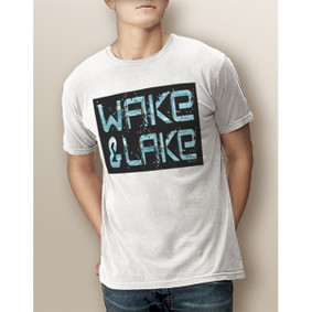Guy's Wake & Lake Edgy-Comfort Colors Tee  (More Color Choices)