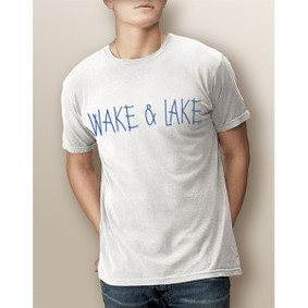 Guy's Wake & Lake Simple-Comfort Colors Tee (More Color Choices)