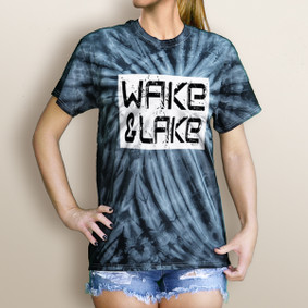 Girl's Wake & Lake Edgy Tie Dye Tee