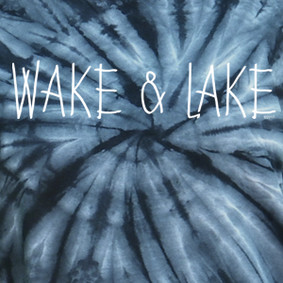 Wake & Lake Simple Tie Dye Tee