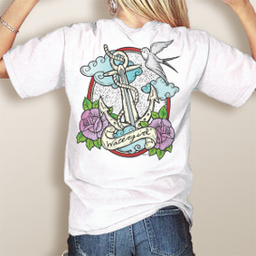 Comfort Colors Pocket Tee-WaterGirl Tattoo Anchor (More Color Choices)