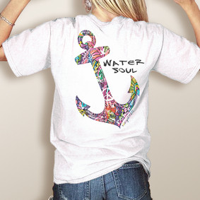 Comfort Colors Pocket Tee-WaterGirl Water Soul Colorful (More Color Choices)