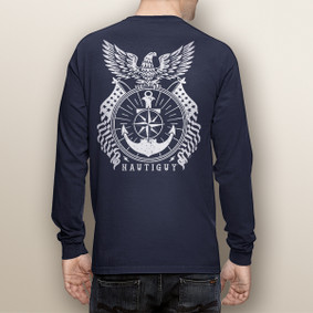 Men's Boating Long Sleeve with Pocket  - Eagle  (More Color Choices)