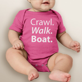 Crawl. Walk. Boat.  - Baby Girl Bodysuit