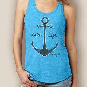 Lake Life  Anchor Signature Tri-Blend Racerback (More Color Choices)