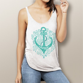 Bohemian Anchor -  Flowy Side Slit Tank