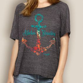 Women's Boating Relaxed Tee- WaterGirl Aloha Beaches