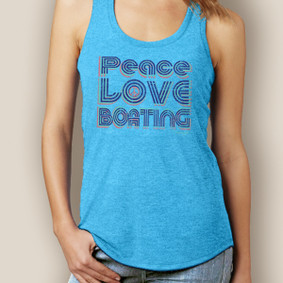 Peace Love Boating Signature Tri-Blend Racerback (More Color Choices)