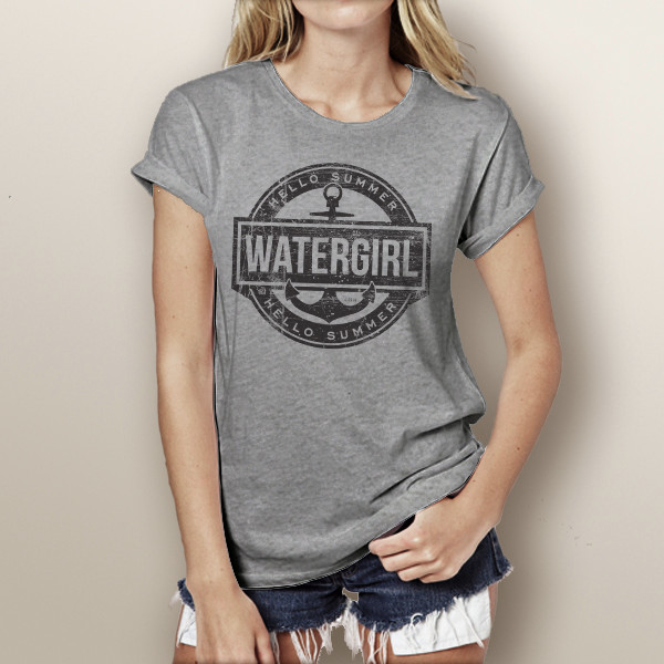 50a7b8e0601 Hello Summer - Watergirl T-Shirt (more color choices). Price   24.99. Image  1