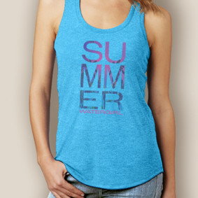 Watergirl Summer Signature Tri-Blend Racerback (More Color Choices)