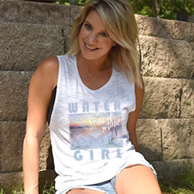 Boating Tank Top -WaterGirl State Of Mind  Muscle Tank