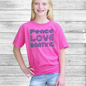 Youth Short- Sleeve-  Peace, Love & Boating