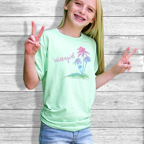Youth Short- Sleeve-  Watergirl Colorful Palms