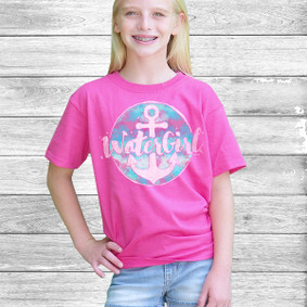 Youth Short- Sleeve-  Watergirl WaterColor Circle Design