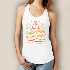 Lazy Days Sun Rays Signature Tri-Blend Racerback
