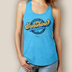 Running On Sunshine Signature Tri-Blend Racerback