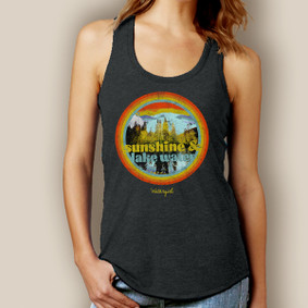 Sunshine and Lake Water Signature Tri-Blend Racerback