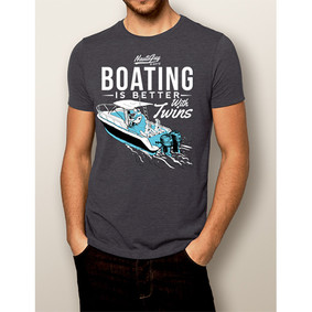 Men's Boating T-Shirt - NautiGuy Twins