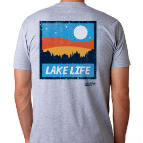 Men's Boating T-Shirt - Lake Life Square