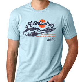 Men's Boating T-Shirt - Motorboating Get There Fast (front print)
